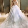 淡蓝色婚纱好仙  烟灰色也灵气