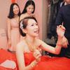 红色蓬蓬裙出嫁喜气又活泼 嘚瑟一下造型