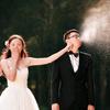 原始森林里拍的婚纱照 够森系