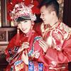 凤冠霞帔的婚纱照 我就是爱一切中式有关的