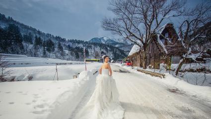 日本白川乡旅拍 雪景完爆北海道