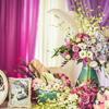 分享婚礼上美美哒紫色系签到台·最爱的part