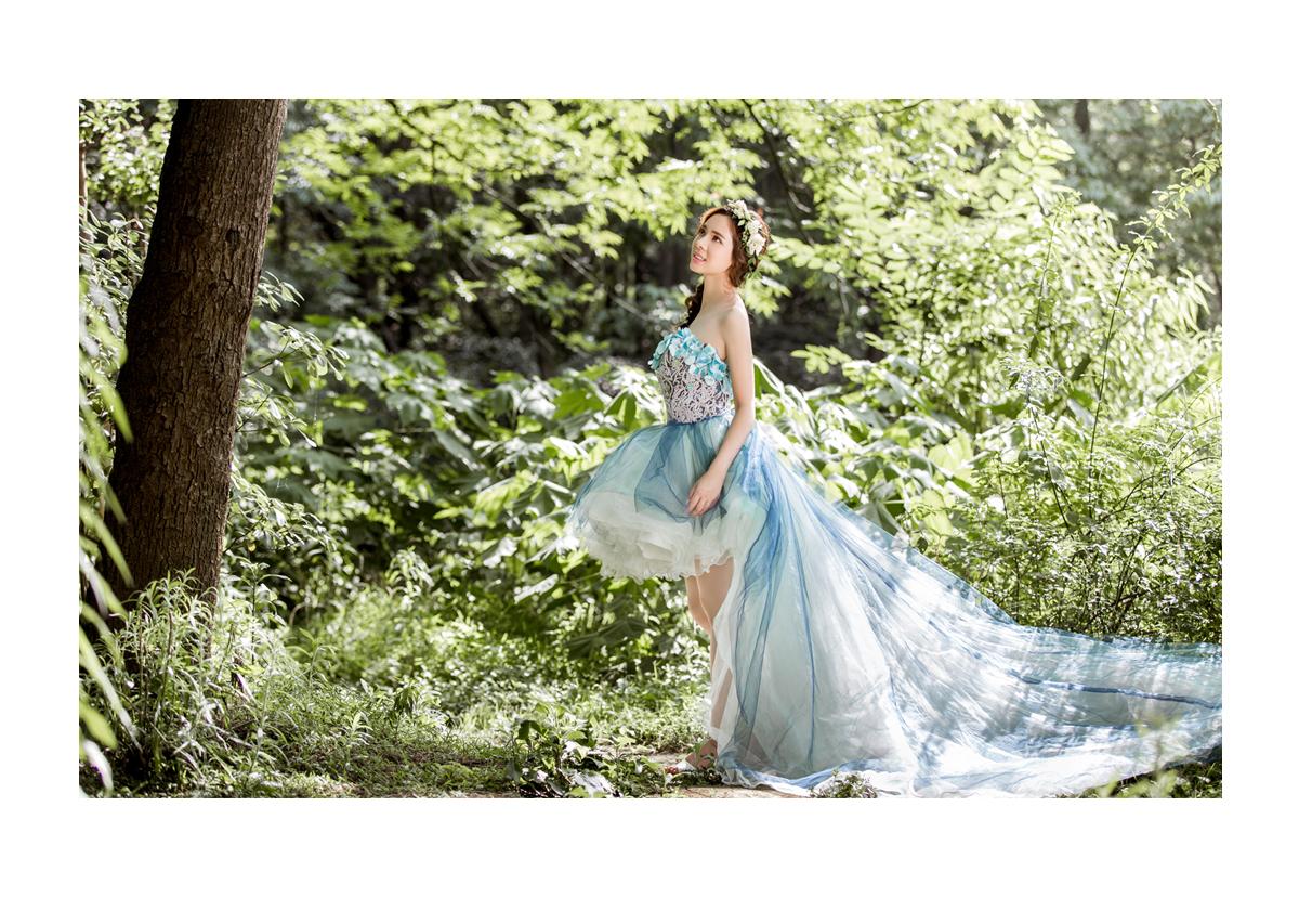 境般的森系婚纱照
